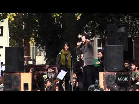 Nathan Brown speaks at UC Davis rally, November 21