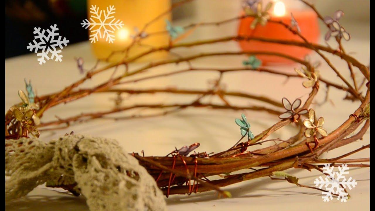 Nailpolish Flower Wreathcrown Diy Christmas Decoration