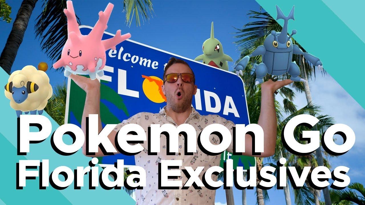 Heracross Florida Map.Pokemon Go In Florida Regional Exclusives Heracross And Corsola