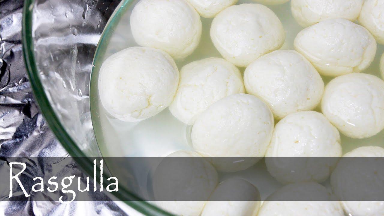 Bengali rasgulla recipe indian vegetarian cuisine youtube forumfinder Choice Image