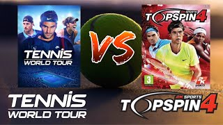 Tennis World Tour vs. Top Spin 4 - Can a 7 year old game still be better?