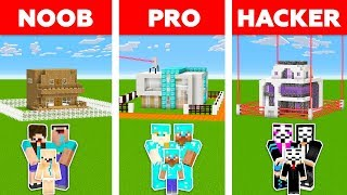 Minecraft NOOB vs PRO vs HACKER : WORLD'S SAFEST FAMILY HOUSE CHALLENGE in minecraft / Animation