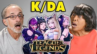 elders react to kda popstars virtual k pop groupleague of legends