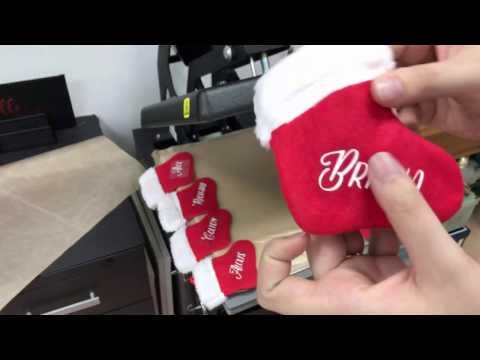 How To Make Mini Custom Stockings Using Scrap Vinyl