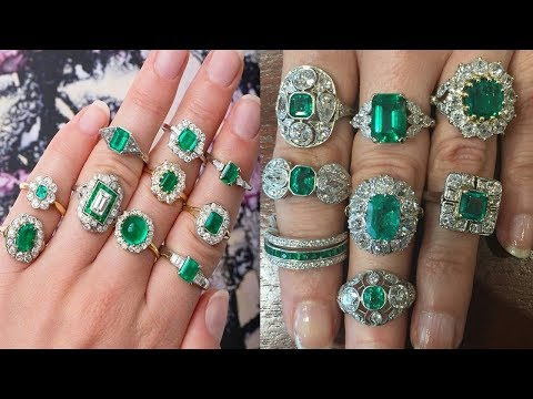 Fashionable Emerald Finger Ring Designs 2018