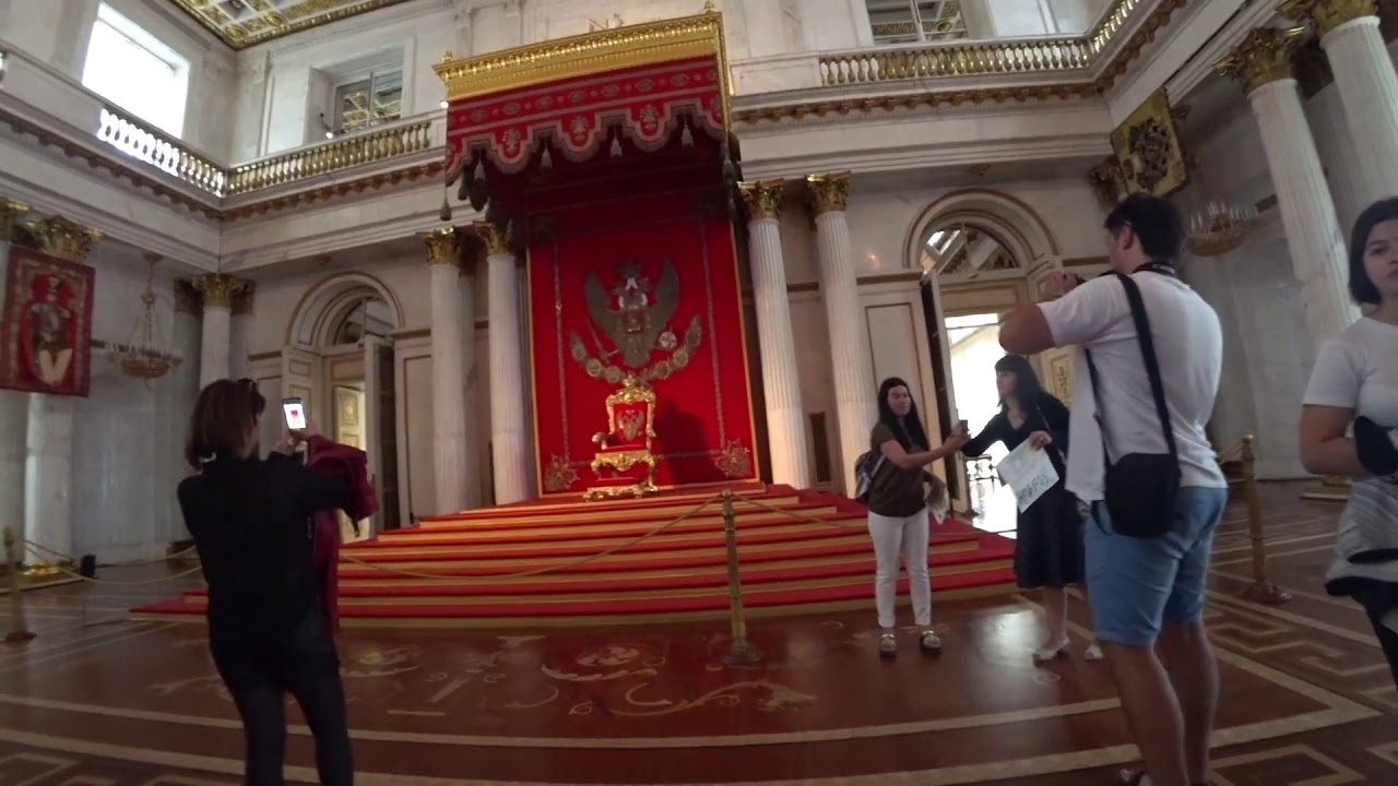 Walking through the halls of the Winter Palace