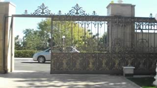 Porte scorrevoli in ghisa - di lusso raffinato e la sicurezza (ghisa, peso 600 kg)