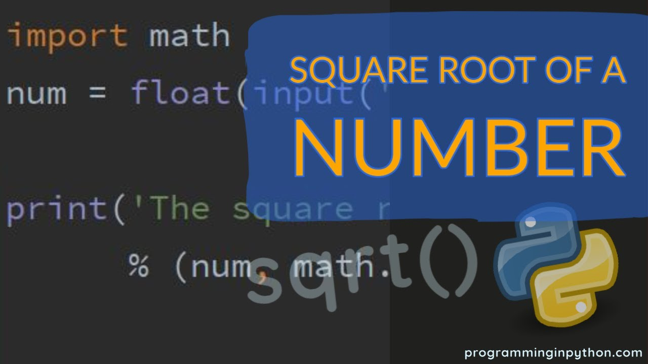 Find square root of a number using sqrt() function - Programming in