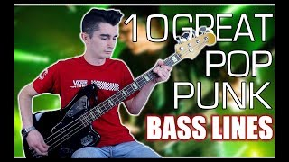 10 Great Pop Punk Bass Lines w/ Tabs