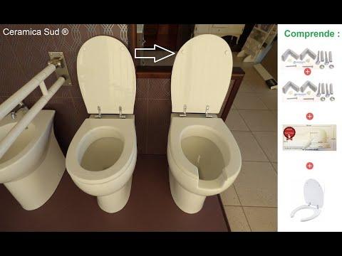WC bagno per disabili ed anziani in ceramica porcellanata antimacchia - N. prodotto: 19633
