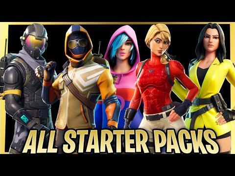 Evolution Of All Starter Pack In Fortnite! (season 3 - Season 13)