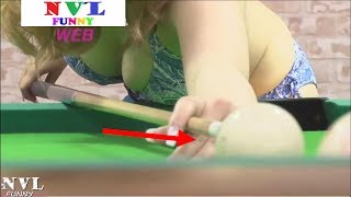 COMEDY JAPANESE - TV GAME SHOW JAPAN - Laugh it out - Girl Playing Billiards