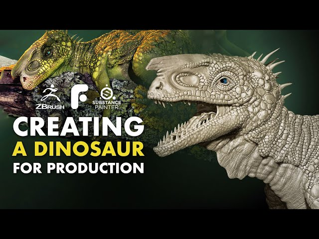 Modeling & Texturing a Dinosaur for Production  - Trailer
