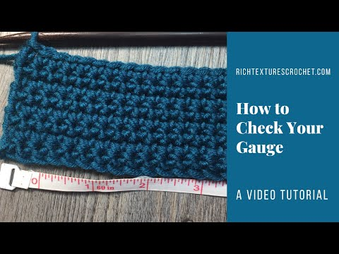 Learn to Crochet with RTC: How to Check your Gauge