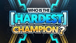 Who Is the Hardest/Most Difficult Pokemon Champion?