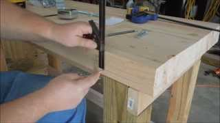 Building A New Workbench Part 10 - Securing The Benchtop - By Old Sneelock's Workshop