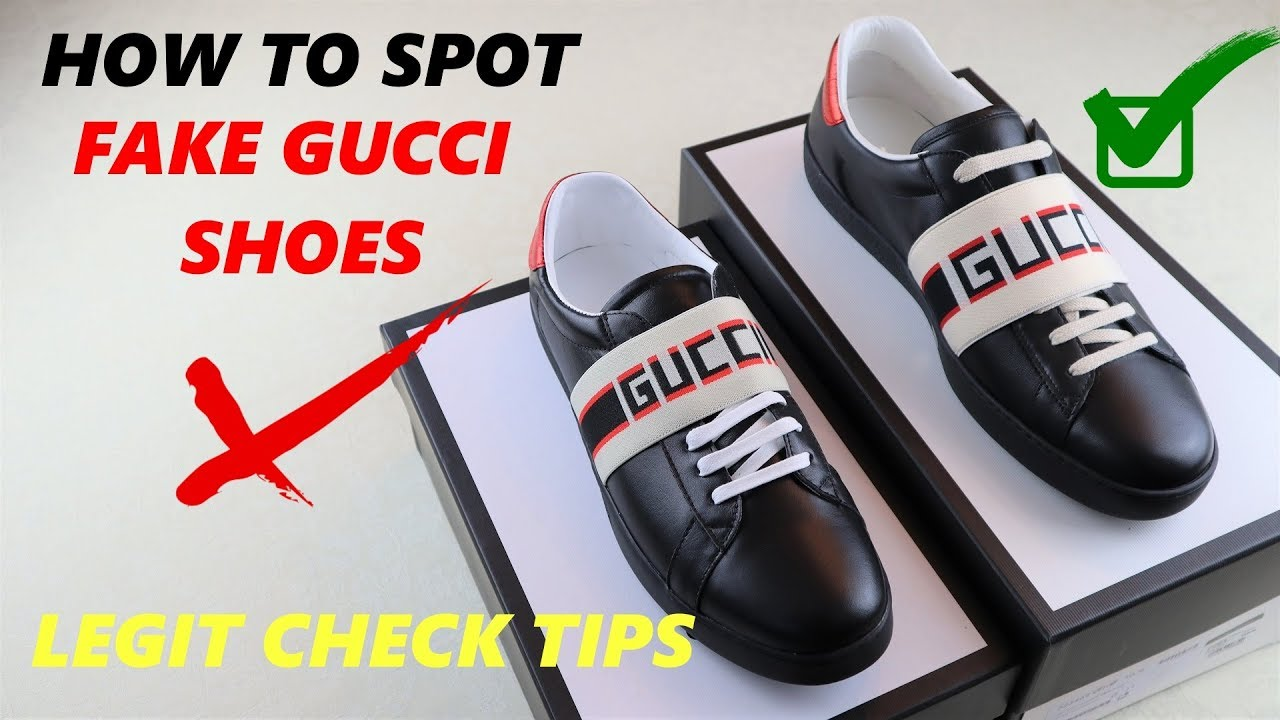 c8bba58203c25 2018 Real vs Fake Gucci Ace Sneakers Legit Check - YouTube