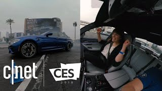 Drifting with a pro driver in a BMW M5 at CES 2018