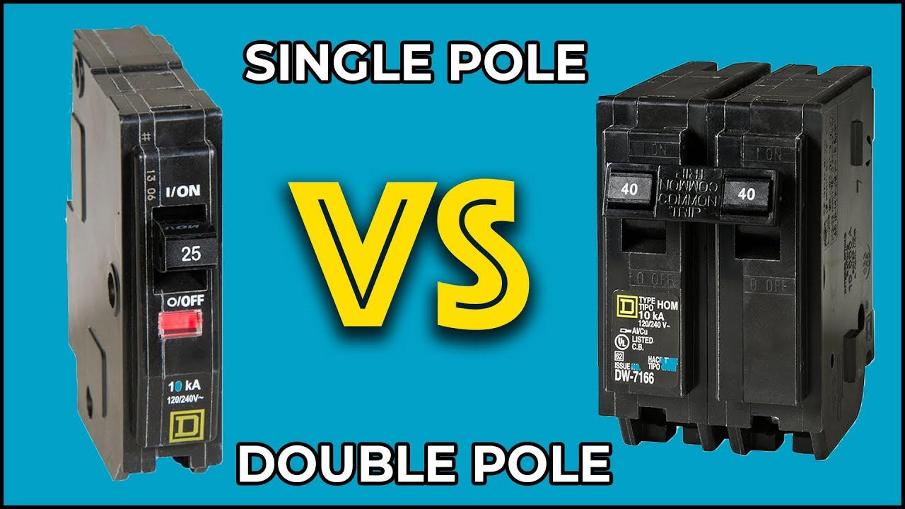 what is the difference between single pole and double pole circuit breakers  [ 1280 x 720 Pixel ]