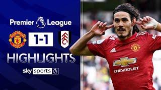 Edinson Cavani scores stunning 40-yard lob 🤯| Manchester United 1-1 Fulham | EPL Highlights