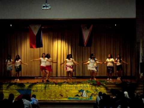 Carnegie's Pacific Islander Club 8th Grade Girls are dancing Tahitian