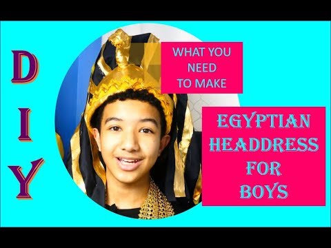 DIY Egyptian Headdress Explained|United Nations Costume For Boys|Halloween Attire|Toots Teens Crafts