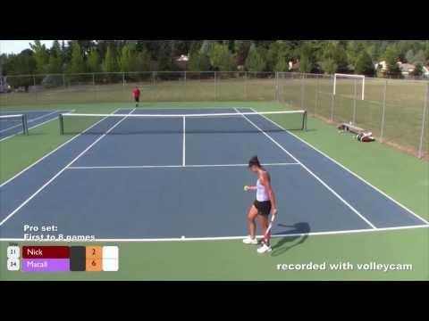 Tennis:  Female Pro vs. Amateur Male
