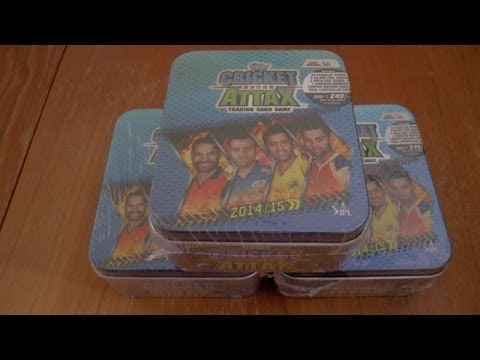 Opening CRICKET ATTAX Indian Premier League 2014/2015 COLLECTOR TIN topps