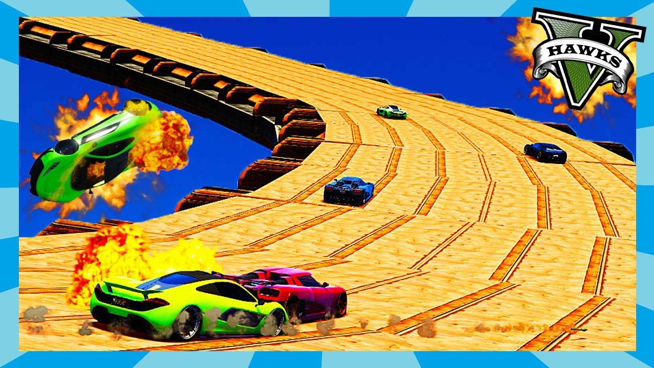 GTA 5 Custom Race - Sky Drive (GTA Mode) Rockstar Editor Clips ...