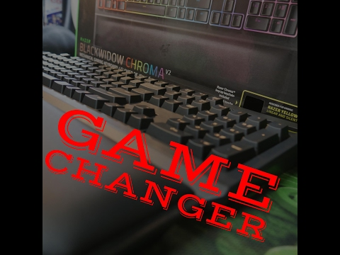 Razer Blackwidow Chroma V2 Unboxing Yellow Keys Game Changer?!?