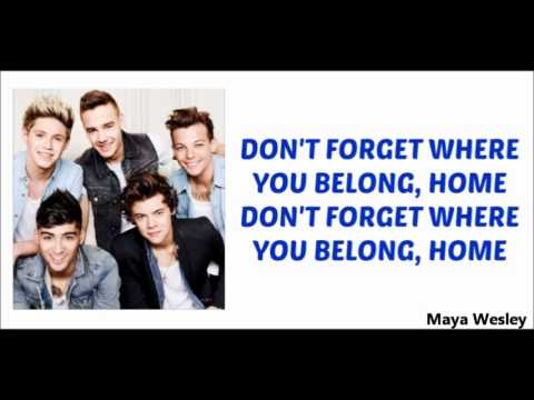 One Direction - Don't Forget You Belong (Lyrics and ...