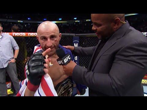 UFC 266: Alexander Volkanovski Octagon Interview