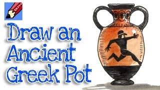 How to Draw an Ancient Greek Pot Real Easy - Step by Step - Amphora