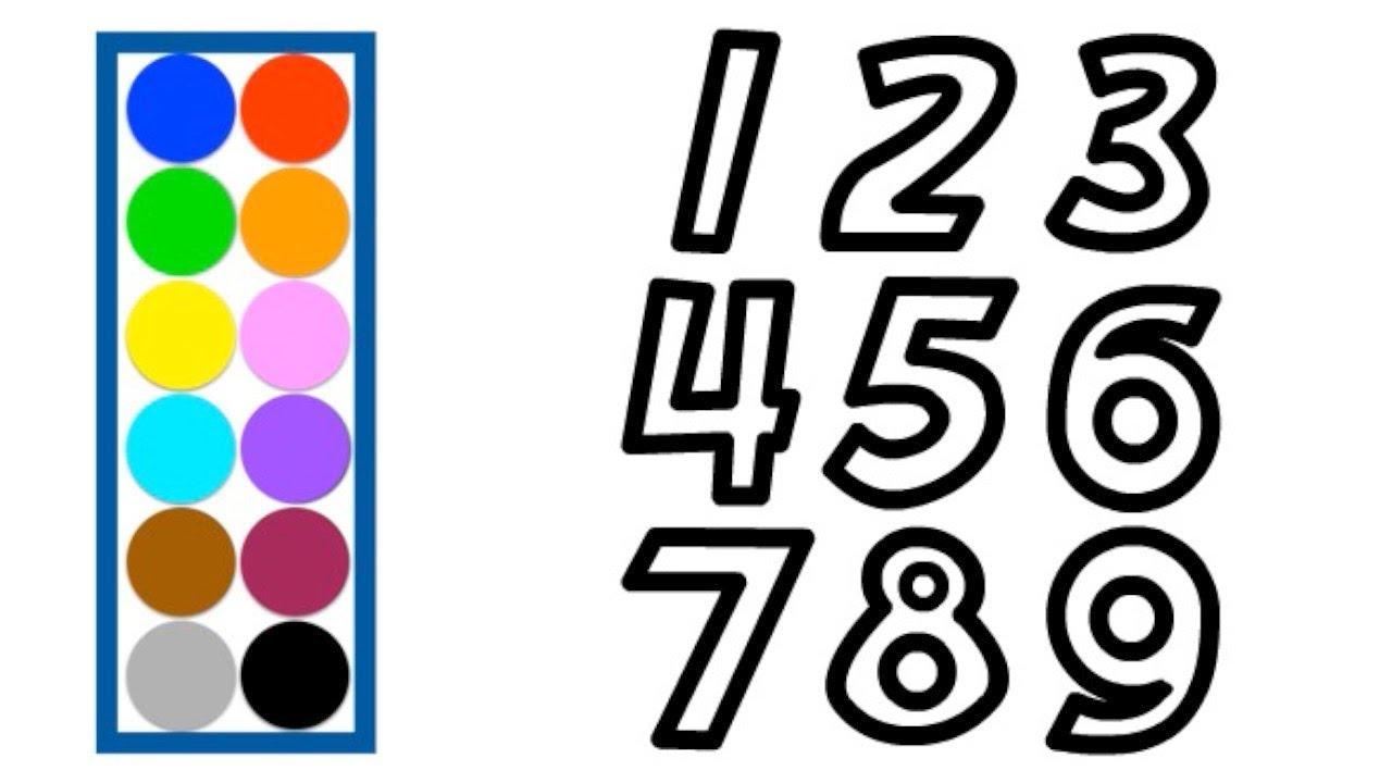 Раскраска для детей ЦИФРЫ. Мультик - Раскраска. Учим цвета ...