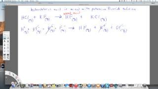 net ionic equation hydrochloric acid and potassium fluoride