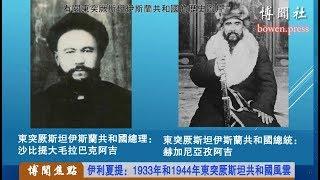 伊利夏提:1933年和1944年东突厥斯坦共和国风云