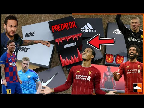 What's In The 2020 Boxes? ⚽ New Boots For Messi, Neymar, Haaland, Mane & Predator!