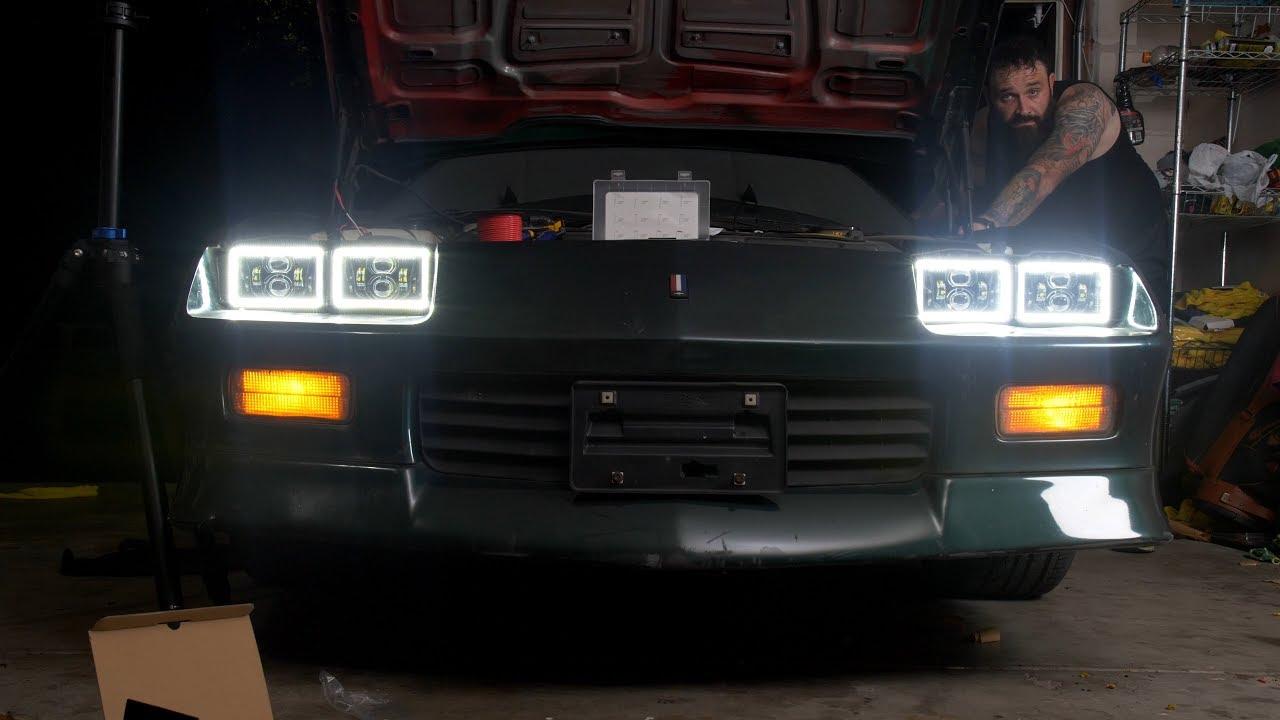 91 camaro headlight wiring diagram third gen camaro project led halo drl headlight install  third gen camaro project led halo drl