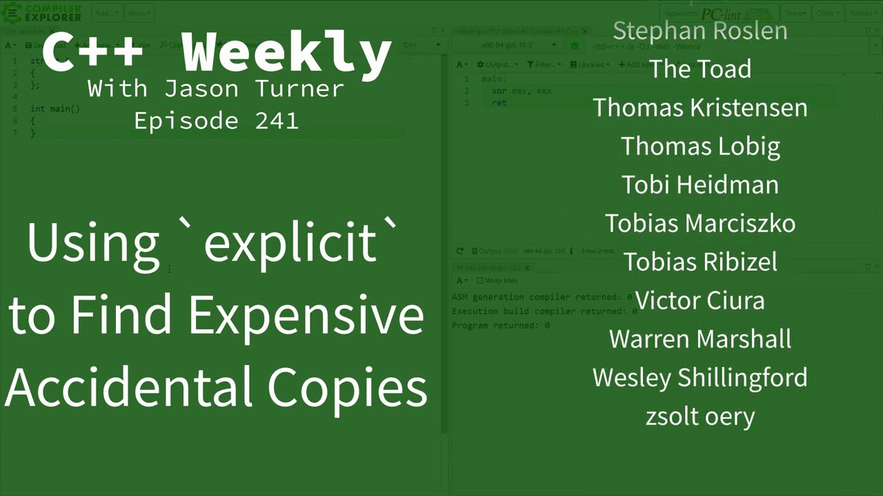 C++ Weekly - Using `explicit` to Find Expensive Accidental Copies