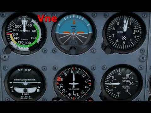 Pitot Static Instruments - Cockpit View (face/front) explained