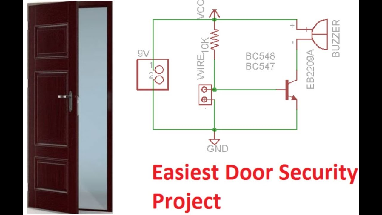 Easiest Way To Make Door Security System Project On Breadboard Youtube Burglar Alarm Circuit Diagram Which Is