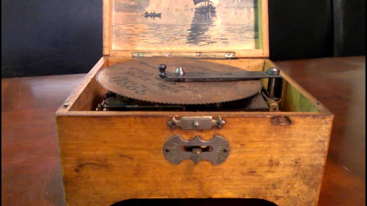 Antique Music Box Metal Disc Thorens