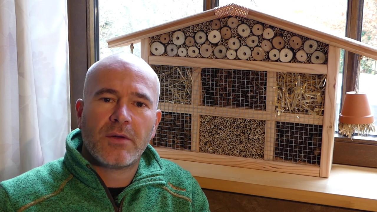 insektenhotel selber bauen / nisthilfe (kleines haus) - youtube