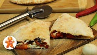Пицца Кальцоне (Calzone) с баклажанами