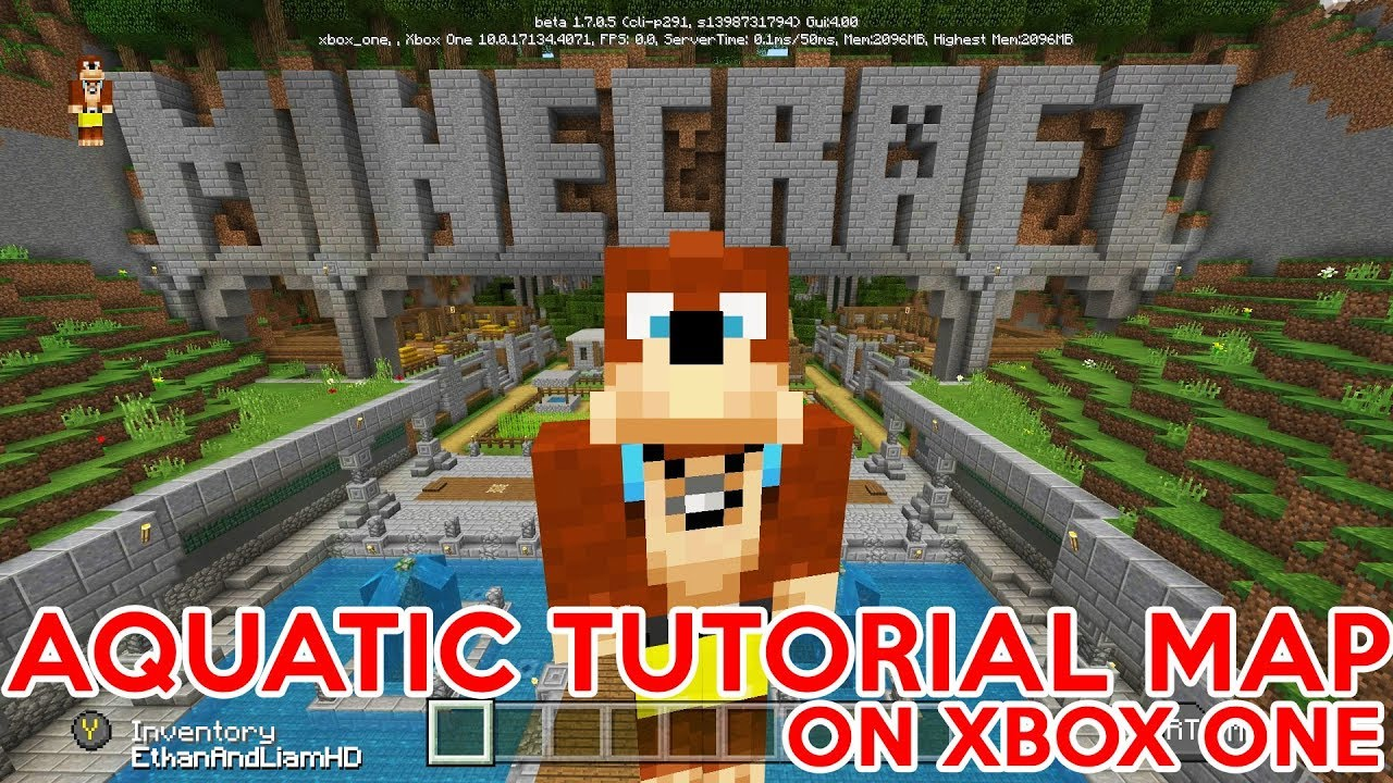 New Aquatic Tutorial Map On Bedrock Edition Xbox One Xbox 360 Ps3 Ps4 Wiiu Youtube