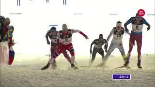 Petter Northug jr. Crazy finish quarter final Lahti 2017
