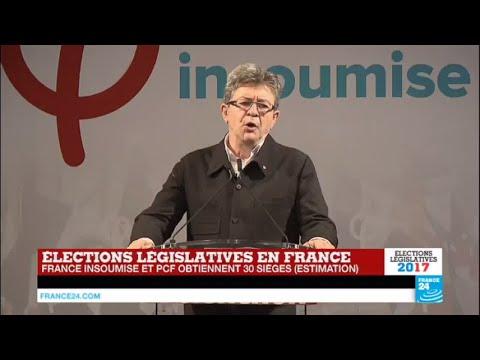 REPLAY - Législatives en France : Discours de Jean-Luc Mélenchon de la France Insoumise