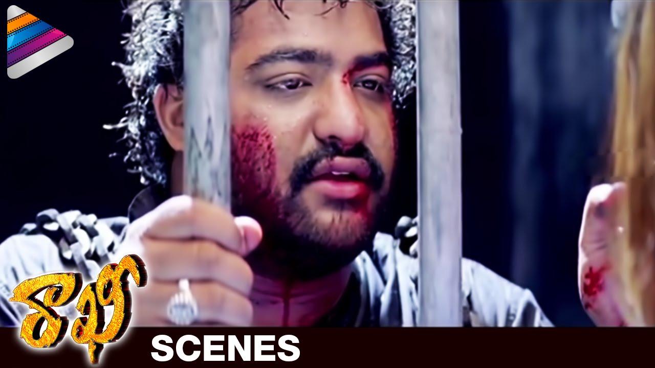 Ntr emotional dialogue about railway | rakhee telugu movie scenes.