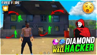 I Meet Dj Alok Hacker,  Wall Hacker , Diamonds Hack💎 , Speed Hack, Car Hack - Garena Free Fire