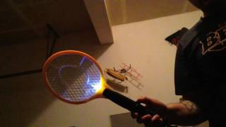 modified electric handheld bug zapper